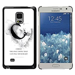 Paccase / SLIM PC / Aliminium Casa Carcasa Funda Case Cover para - BIBLE Chirst Can Fill Your Heart - Samsung Galaxy Mega 5.8 9150 9152