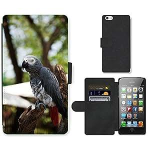hello-mobile PU LEATHER case coque housse smartphone Flip bag Cover protection // M00137565 Loro vida África Naturaleza Animal // Apple iPhone 5 5S 5G