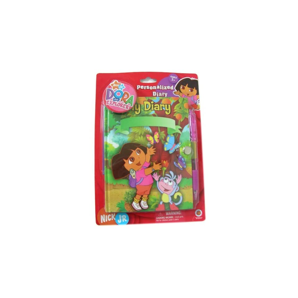 Nick Jr kids diary   Dora Best Friends personal diary notebook with writting pen