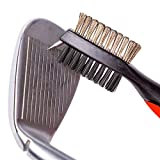 Black-Golf-Brush-and-Club-Groove-Cleaner-FREE-USA-COIN-2-ft-Retractable-Zip-line-Aluminum-Carabiner-Lightweight-Ergonomic-Design-Easily-Attaches-to-Golf-Bag