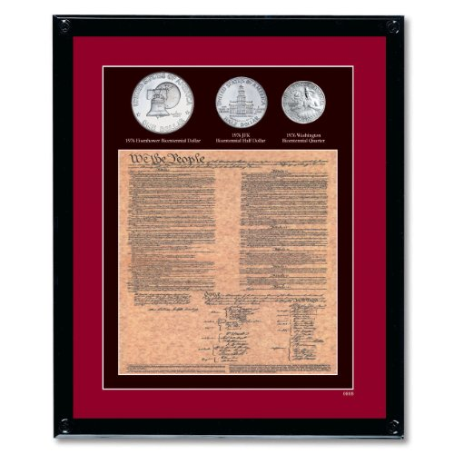 American Coin Treasures Framed U.S. Constitution with All...