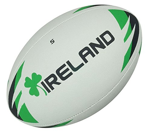 Precision Training Ireland Rugby Ball - White/Green - Size 5 - Size 5