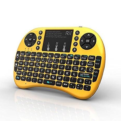 (Novedad 2015, con Luz de fondo) Rii mini i8+ Mini teclado ergonómico con
