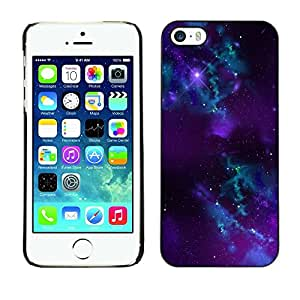 LECELL -- Funda protectora / Cubierta / Piel For Apple iPhone 5 / 5S -- Space Galaxy --