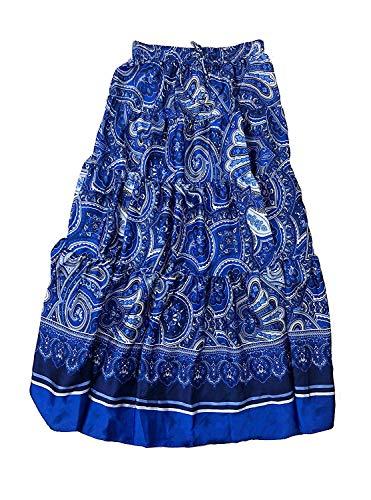 (Lauren Ralph Lauren Women's Printed Paisley Tiered A-Line Maxi Skirt (Blue Multi, XX-Large))
