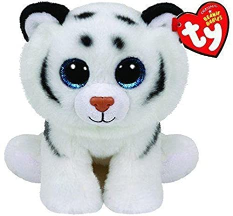 Amazon.com  Ty Tundra White Tiger Beanie Babies Boos Stuffed Small 6