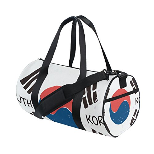 Distressed South Korea Flag Travel Duffel Shoulder Bag ,Sports Gym Fitness Bags by super3Dprinted