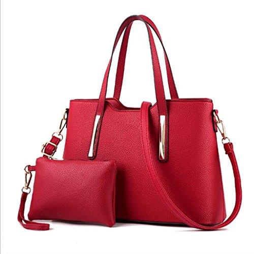 Black 19 Cm; dimensioni 1 Semplice Tracolla Messenger Borsa Cm Liu 23 A 12 Elegante colore 11 34 Moda Red Femminile OScqU