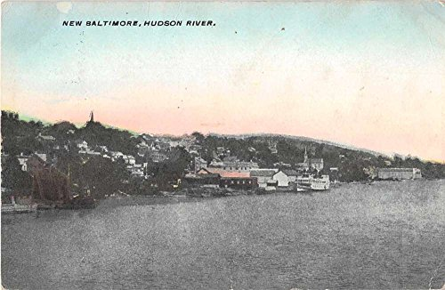 New Baltimore New York Hudson River Antique Postcard J54763