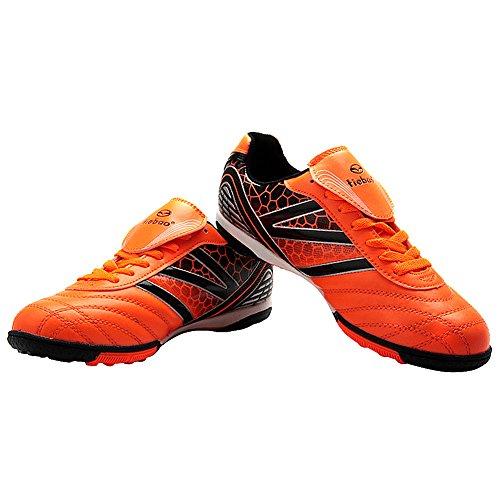 Calcio Uomo Pelle Scarpe Ic Rigide Tiebao Al Mozione Superfici Coperto Per Pu Da Arancione 17RA6wq
