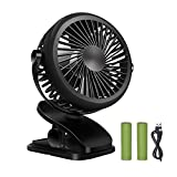 umbrella clip on - Battery Operated Fan,Mini USB Clip Fan, Clip on and Desk Fan ,Rechargeable Personal Portable Fan with 360 Degree Rotation, Powerful Wind for Baby Stroller,Office,Travel,Camping,Boating,Fishing,Hiking.