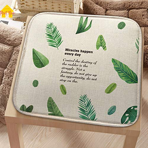 - Cotton Linen Seat Cushion Pad Patio Solid 6 Colors Paiting Garden Square Indoor Dining on Office Chair Foam