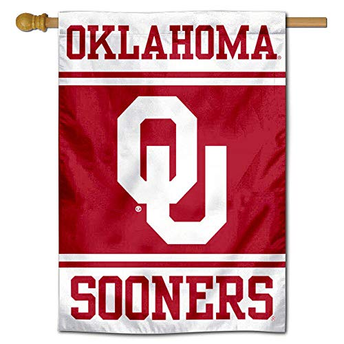 Oklahoma Sooners Two Sided and Double Sided House Flag ()