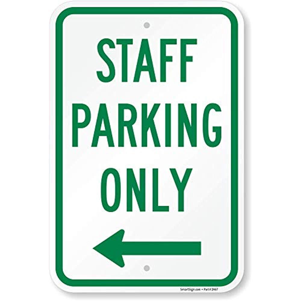 Amazon.com: Señal de estacionamiento para personal solo con ...
