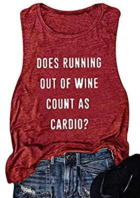 Women Sleeveless Does Running Out of Wine Racerback Tank Top