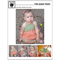 The Sissy Pooh - Crochet Pattern #142 for Girls Halter Dress
