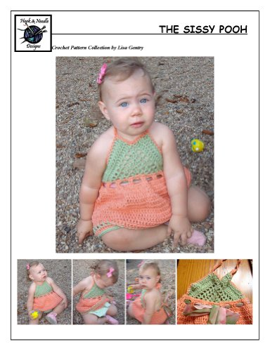 The Sissy Pooh - Crochet Pattern #142 for Girls Halter Dress (Crochet Halter Pattern)