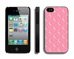 New Design Christmas Deer iPhone 4 4S Case 9 Black by icecream design