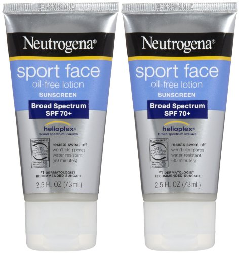 Neutrogena Sport Sunblock Face Lotion SPF 70+-2.5 oz, 2 pack