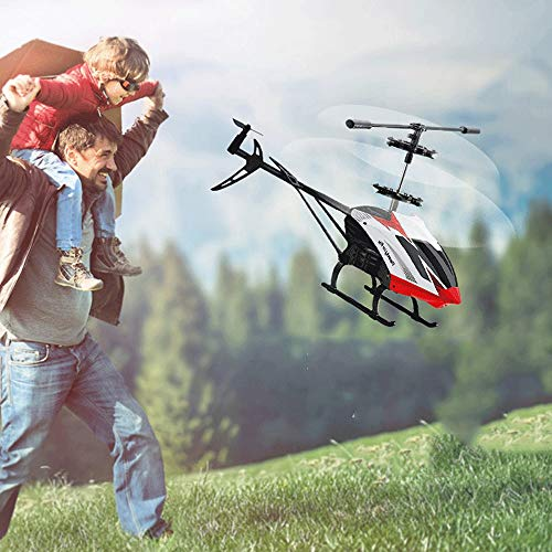 Mopoq Remote Control 3.5 Channel Wireless Remote Control Aircraft Helicopter Fall Defense Crash Model Boy Primary School Mini Aircraft Remote Control Children Puzzle Outdoor Indoor Toy Drone ()