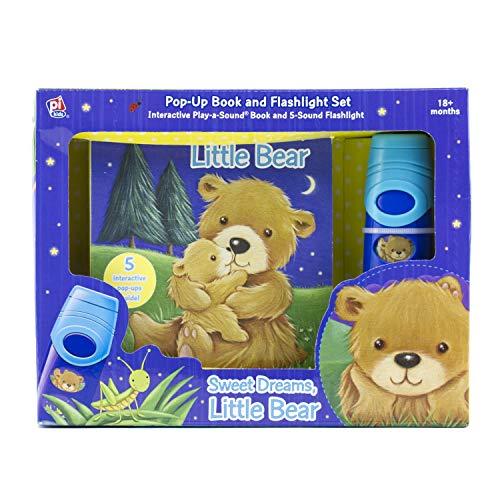 Sweet Dreams, Little Bear Flashlight Adventure - Pop-Up Lift-The-Flap Book and Flashlight Set - PI Kids
