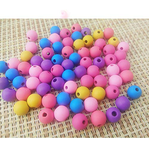 900 Pieces 6mm DIY Assorted Color Frosted Acrylic Round Sphere Ball Beads for Bracelets Necklaces Jewelry Making