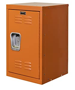 "Hallowell HKL151524-1HP Kid Mini Locker, 15"" Width x 15"" Depth x 24"" Height, Single Tier, 1-Wide, Knock-Down, 728 Hoop"