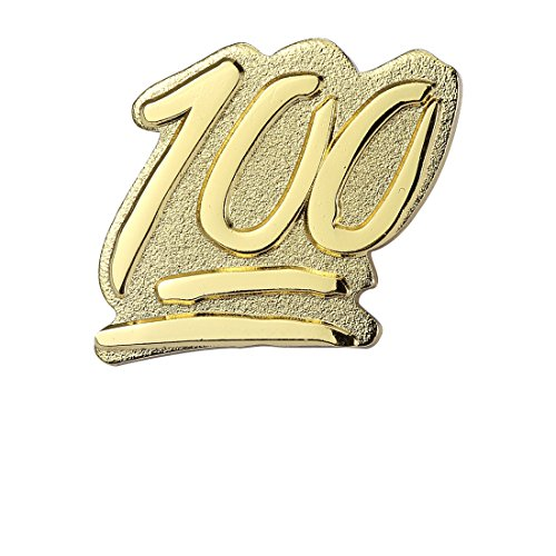 Last Valentine Emoji 100 Emoji Icons Lapel Pin Nickel Plated Color Gold Enamel Pin (Gold)