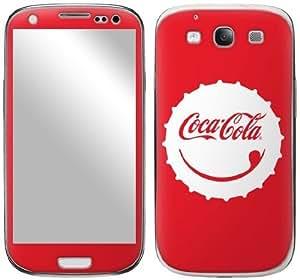 Zing Revolution Coca-Cola Premium Vinyl Adhesive Skin for Samsung Galaxy S III, Smile Cap (MS-COKE80415)