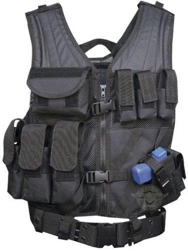 5ive Star Gear CDV-5S Cross Draw Vest, Black, Medium/X-Large