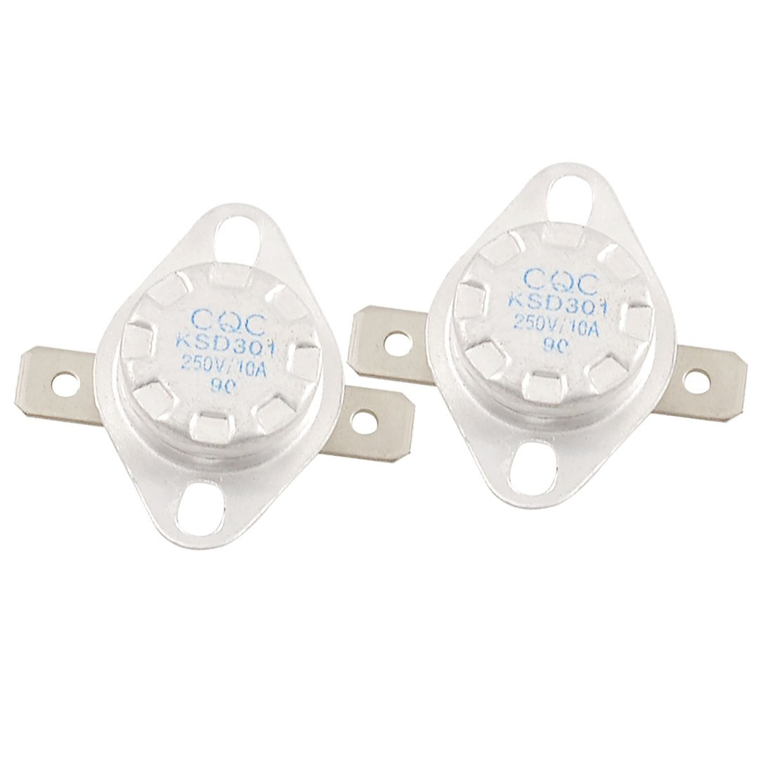 2  pcs KSD301  90  degré s Celsius Cé ramique Thermostat Tempé rature Interrupteur NC Sourcingmap a12101700ux0387
