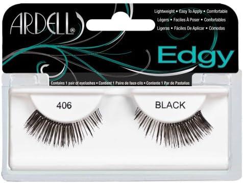 b8557cb54da Amazon.com : Ardell Edgy Fake Eyelashes, 406 Black : Fake Eyelashes And  Adhesives : Beauty