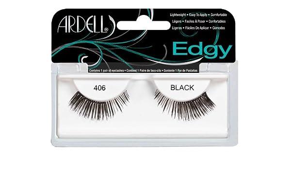 c91cfe84063 Amazon.com : Ardell Edgy Fake Eyelashes, 406 Black : Fake Eyelashes And  Adhesives : Beauty