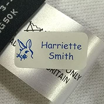 61cb9b0b5fc7 30 Just Stick Clothing Name Tags/Labels- No Sew or Iron for School  Children, Care Home