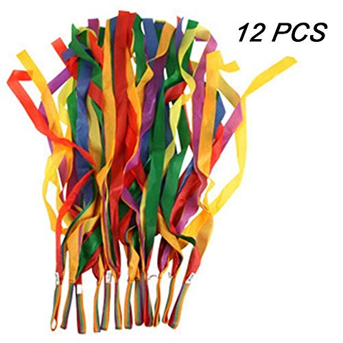 Why Choose TOPTIK 12 PCS Rainbow Ribbon Set for Kids,Rhythm Ribbon Dance