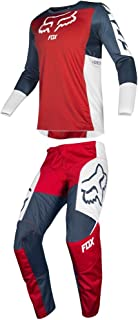Fox Racing 2019 180 PRZM Jersey and Pants Combo Offroad Gear Set Adult Mens Navy/Red Small Jersey/Pants 30W