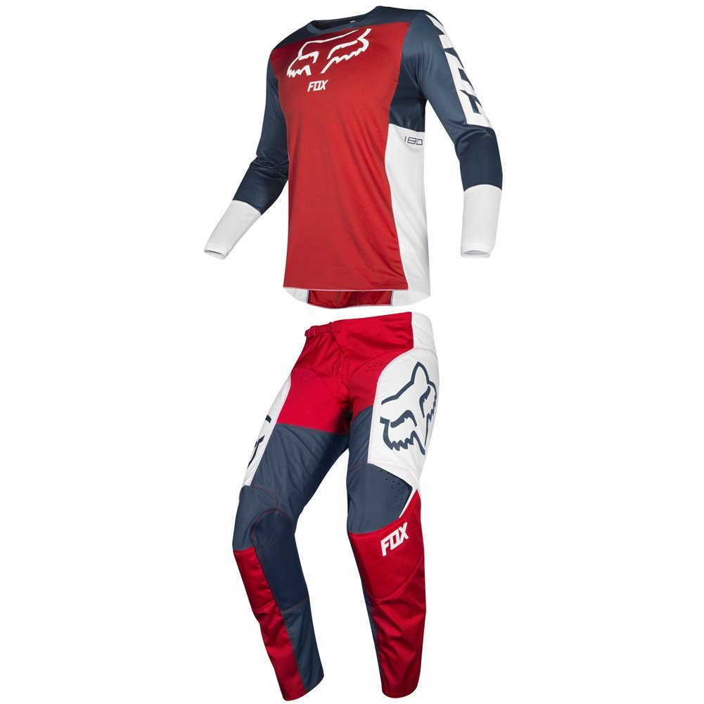 Fox Racing 2019 180 PRZM Jersey and Pants Combo Offroad Gear Set Adult Mens Navy/Red Small Jersey/Pants 28W by Fox Racing
