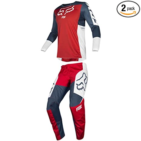 Fox Racing 2019 180 PRZM Jersey and Pants Combo Offroad Gear Set Adult Mens Navy/Red Medium Jersey/Pants 32W