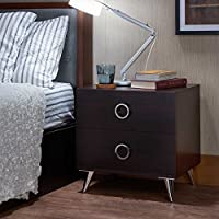 HomeRoots Furniture 286442-OT Nightstands and Bedside Tables, Multicolor
