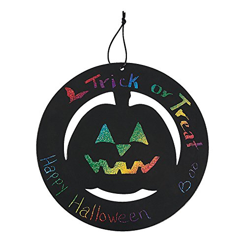 Large Magic Color Scratch Halloween Wreath Ornaments ()