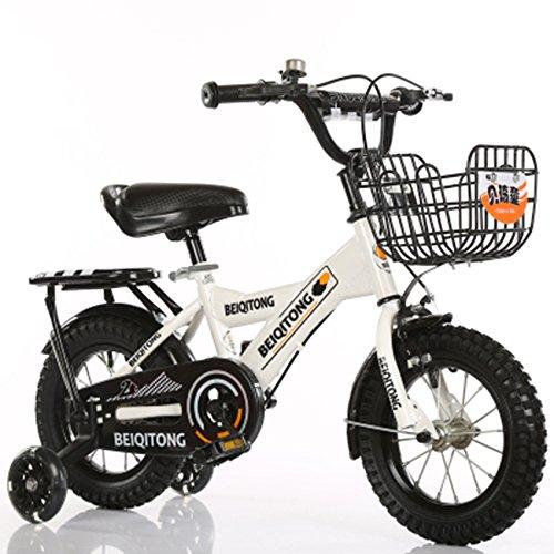 子供の自転車、少年の自転車の女の子クリエイティブ自転車有人自転車後部座席がある衝撃安全自転車足首自転車を減らす (色 : 白, サイズ さいず : 88CM) B07D2G2KJL白 88CM