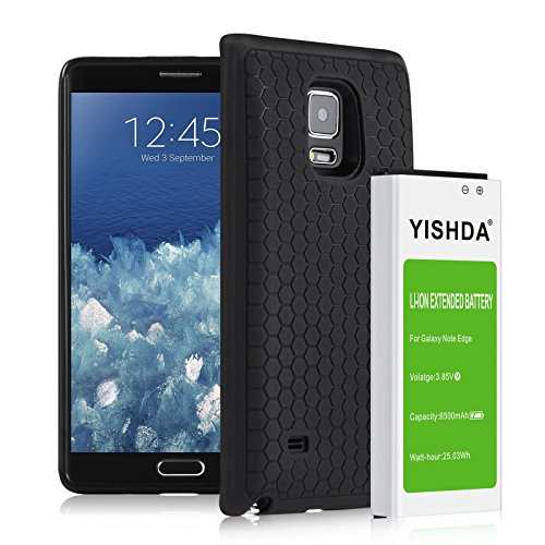 YISHDA Galaxy Note Edge Battery, 6500mAh Replacement Battery Compatible with Samsung Galaxy Note Edge with Back Cover & TPU Case for N915 N915U N915A N915V N915P   Samsung Note Edge Extended Battery