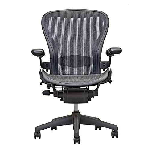Herman Miller Executive Chair (Herman Miller Aeron Executive Office Chair-Size B-Fully Adjustable Arms-lumbar Support Open Box)