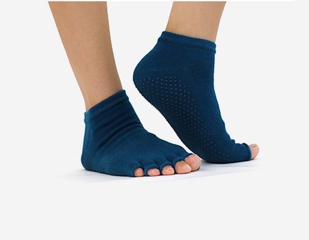 Mujer calcetines con stock mango dedo abierto | Yoga-pilates-medias con Pack puntos extremos (2 pares) de Global Care Market: Amazon.es: Deportes y aire libre