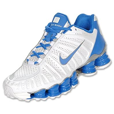 097dc11ca3d484 cheapest nike shox tlx womens running shoes white metallic silver blue  29557 3abd2