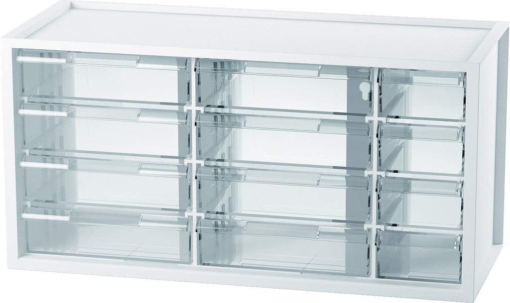 livinbox 10 Schubladen Schubladenschrank Schubladenbox Organizer Tisch Aufbewahrungsbox aus Kunststoff A9-510 Schwarz
