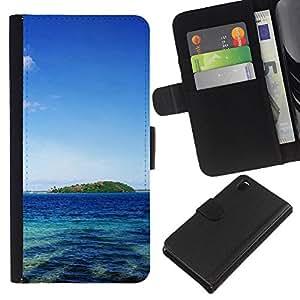 Planetar® Modelo colorido cuero carpeta tirón caso cubierta piel Holster Funda protección Para Sony Xperia Z3 D6603 ( Tahiti )