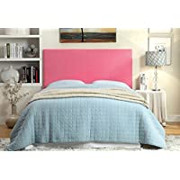 Winn Park II collection pink leatherette upholstered rectangular padded Full / Queen size headboard