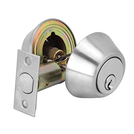 90db8171a1dc Stainless Steel Door Cylinder Double Cylinder Deadbolt Lock Keyed on Both  Sides for Wood Door