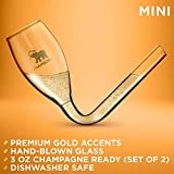 CHAMBONG – 3 oz Mini Size, 2 Pcs Glass with Gold